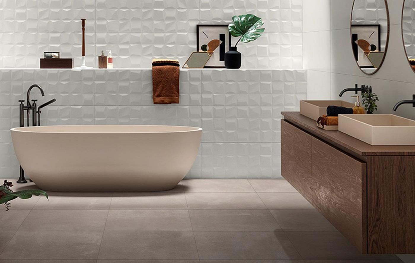 love tiles white bagno
