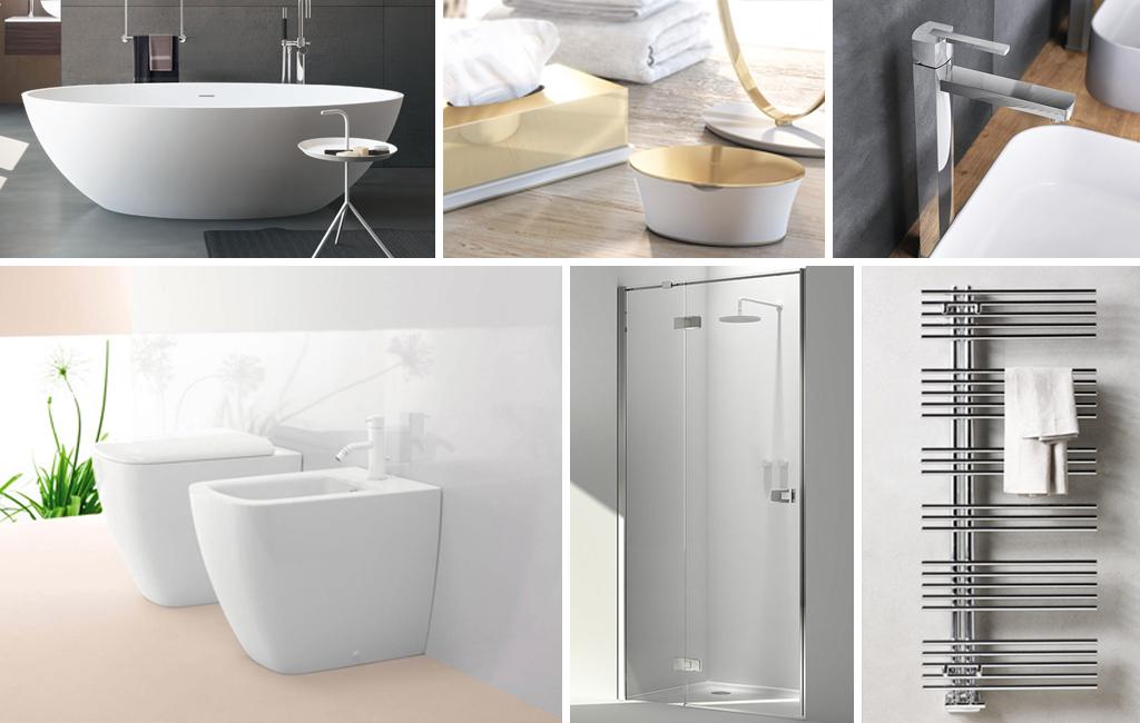 Tutto quello che serve per un bagno moderno total white